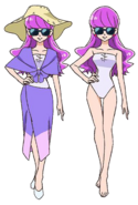 Perfiles de Yukari con traje de baño