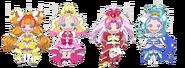 Marionetas de Twinkle, Flora, Scarlet y Mermaid