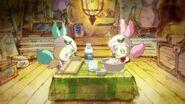 Pikario y Kirarin cocinando juntos