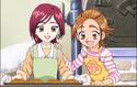 Saki and Michiru bakking bread
