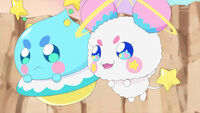 STPC20 Fuwa tells Blue Cat that the Cures will protect her