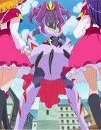 Sparda presentandose ante Mirai y Riko