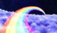 Un gran arcoiris se forma