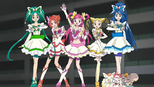 Precure 5 pose in episode 25