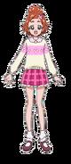 Haruka con su vestimenta invernal