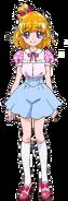 Perfil de Mirai Asahinai con su atuendo casual (TV Asahi)