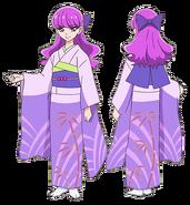 Perfiles de Yukari con yukata