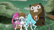 Blossom y Marine tratan de proteger a Itsuki