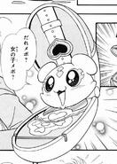 Mepple en su apariencia de Card Commune manga