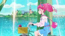 STPC01 Hikaru riding her bike