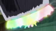 Las chicas usando el Impacto Pretty Cure para liberarse