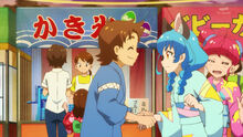 STPC25 Yuni tells Tatsunori that her name isn't Nyanko