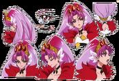 Expreciones de Cure Scarlet