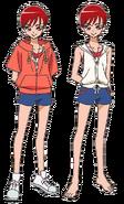 Perfiles de Akira con traje de baño
