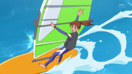 Asuka sailing in