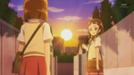 Mayumi and Kana walk home toegther