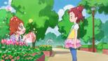 Haruka trying to cheer up Momoka