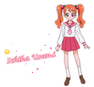 Perfil de Ichika con su uniforme escolar (TV Asahi)