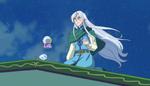 (21) Kochou and Magic Crystal out at night