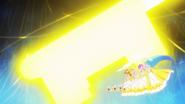 Golden Dress Up Key becomes a giant key of light