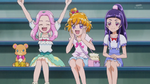 The three girls cheer Souta on