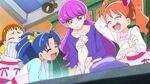 KKPCALM05 Ichika and Aoi laugh as she makes a cookie too big