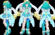 Perfiles de Cure Milky (TV Asahi)