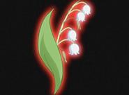 Flor corazon lirio del valle