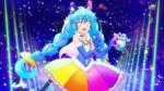 Gemini Rainbow Splash Cosmo posing with perfume