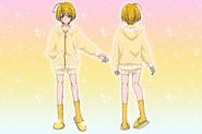 Perfiles de Homare con su pijama (Toei Animation)