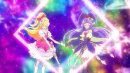 101. Miracle y Magical utilizando el Diamante Eterno Pretty Cure