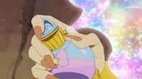 STPC20 Blue cat sprays the magic perfume on herself