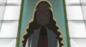 Kaoruko looking down to the Cures