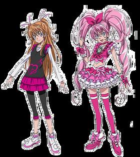 1Cure Melody y Hibiki