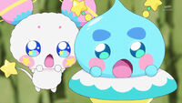 STPC21 Fuwa and Prunce are amazed by Star and Cosmo's teamwork