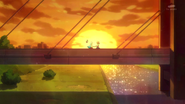 Megumi le agradece a Hime, ya que despues de haberse convertido en una Pretty Cure junto con ella, se siente muy feliz.