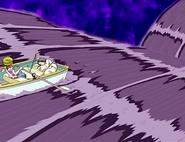 Hikari sanae a punto caer estanque