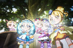 Baby Ange, Macherie, Amour and Etoile using the Miracle Lights