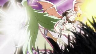 Cure Empress and Melan fighting
