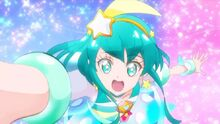 Cure Milky during the group pose