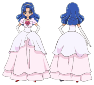Perfiles de Aoi con vestido formal