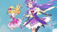 Cure Miracle y Cure Magical recien transformadas