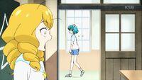 STPC16 Lala walks pass the door telling Sakurako to hurry up