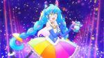 Rainbow Splash Taurus version Cosmo posing with perfume