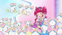 STPC23 Hikaru surrounded by Fuwa clones