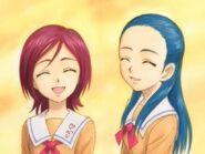 Michiru y kaoru sonriendo