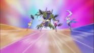 Pretty Cure corriendo hacia el enemigo