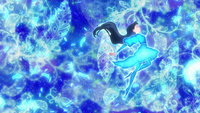HuPC-Heart Kiratto-Ange-Saaya covered in blue light