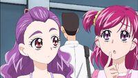 Kurumi looks at Nozomi