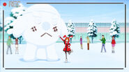 Mr Brave Donut snowman